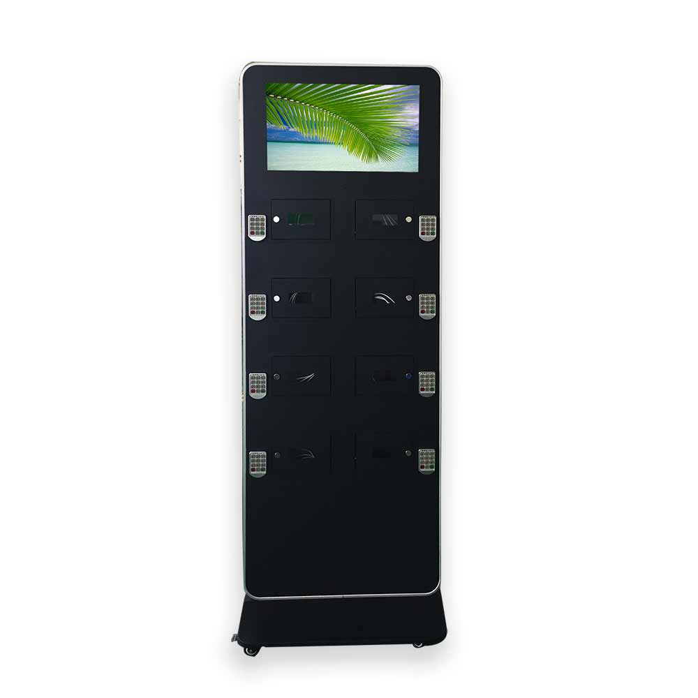 Interactive Floor stand charging station - phone charging station kiosk